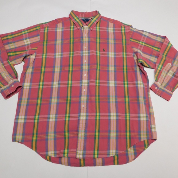 Ralph Lauren Other - Ralph Lauren 2XL Pink Button Down Shirt Blake Cott